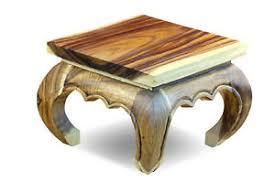 details zu beistelltisch holz opium tisch massivholz wohnzimmer holztisch 35 cm blumentisch