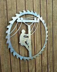 Lineman Decor- Metal Door Hanger- Unfinished Sign- Rustic Sawblade ... Lineman Barn Lineman Stuff Pinterest Barn Decor Door Hanger Personalized Metal Sign Black Hurricane Irma Matthew Shirt Climbing Mesh Back Cap Pride Shirt Home 12 Best Lineman Wife Images On Love