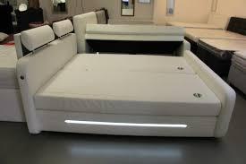 bett boxspringbett weiß 180x200 cm led beleuchtung schlafzimmer