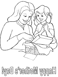 Impressive Mothers Day Coloring Pages With Happy And