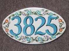 handcrafted twodigit ceramic house number tile by ravenstonetiles