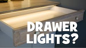 Under Cabinet Lighting Ikea by Drawer Lights Youtube