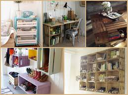 Recycled Wood Crate Projects DIY Furniture Ideas