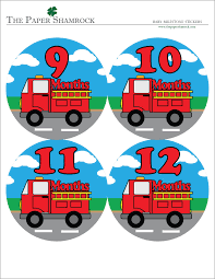 Fire Truck Baby Milestone Stickers | The Paper Shamrock 367 Custom Stickers Itructions To Build A Lego Fire Truck Fdny Wall Decal Removable Sticker For Boys Room Decor Whosale Universal Car Stickers Whole Body Flame Vinyl Department Bahuma Holidays Fire Truck Stickers Preppy Prodigy Dragon Ball Figure Eeering Toy Ming Childrens Mini Firetruck Cout Set Of 96 Engine Monthly Baby Photo Props Sandylion Fireman Ladder Dalmation Dalmatian Dog Water New Replacement Decals For Little Tikes Cozy Coupe Ii