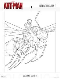 Free Ant Man Printable Coloring Sheets