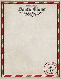 Santa Claus Letter Template Letters Font