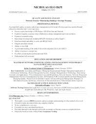 Quality Analyst Resume Objective Examples With Assurance Example Sample Cool For Best