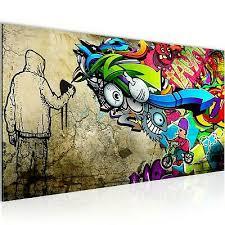 wandbilder modern wohnzimmer graffiti bunt schlafzimmer abstrakt bilder ebay