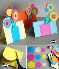 Put A Colorful Paper Bouquet On Card