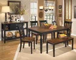 Ashley D580 Owingsville Leg Table With Bench