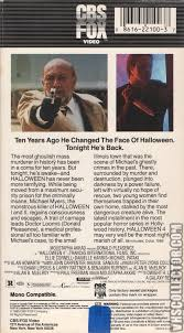 Donald Pleasence Halloween 5 by Halloween 4 The Return Of Michael Myers Vhscollector Com Your