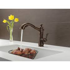 Delta Oiled Bronze Kitchen Faucet by Delta Faucet 4197 Dst Cassidy Polished Chrome Pullout Spray