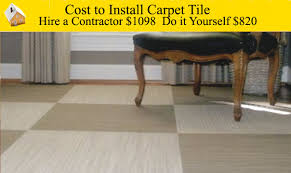 cost to install carpet tiles