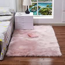 großhandel shaggy teppich für schlafzimmer wohnzimmer warme plüsch teppiche flauschige matten kunstpelz bereich teppich wohnzimmer matten seidige