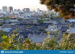 100 Houses In South Korea Jeonju Hanok Village Popular Tourist Attraction With N