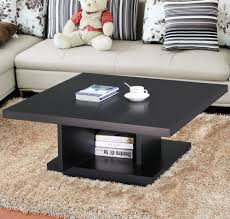 100 Living Room Table Modern Wood Square Coffee Center Storage Furniture Black