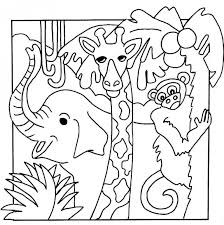 Coloring Book Pages Jungle Animals Printable Sheets