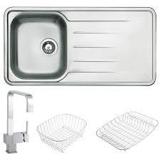 Kitchen Sink Types Uk by Rangemaster Atlantic 1 5 Brushed Stainless Steel Undermount