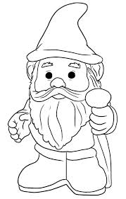 Gnome With Pointy Hat Coloring Page