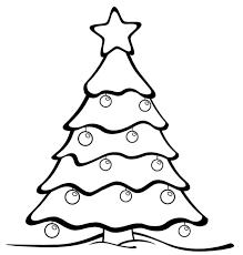 Colouring Page For Kid Printable Christmas Tree