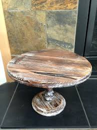 12 Square Cake Stand Wood Rustic This Pedestal Stands Tall And Wide Undefined Inch Wedding Uk