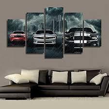 la vie 5 teilig wandbild gemälde auto im regensturm bilder