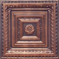 24 x24 anet antique copper black pvc 20mil ceiling tiles antique