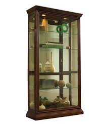 curio cabinet in eden house brown by pulaski home gallery stores