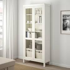 hemnes vitrinenschrank weiß gebeizt 90x197 cm