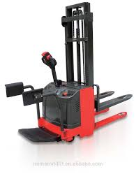 100 Industrial Lift Truck Warehouse Forklift Electric Pallet Stacker