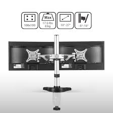 Desk Mount Monitor Arm Dual by M13 Dual Arm Monitor Desk Mount For 10 U2033 27 U2033 U2013 Fleximounts