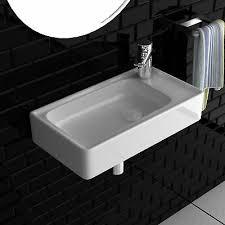 waschbecken waschtische keramik gäste wc waschbecken