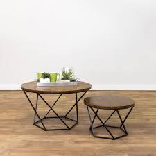 Walker Edison 3 Piece Contemporary Desk by Walker Edison Furniture Company Geometric Wood Nesting Oak And