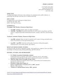 Sample Resume Of Student High Resumes Athlete