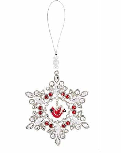 Ganz Crystal Expressions Cardinal Snowflake Ornament