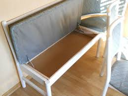 küchen esszimmerbank und zwei stühle weiß blau