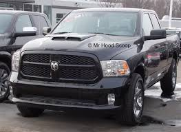 100 Ram Trucks 2013 2009 2018 Dodge 1500 Hood Scoop Kit With Grille Inserts HS002 Unpainted Or Painted