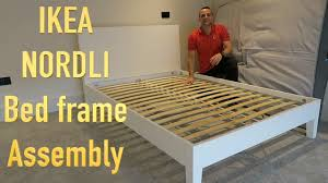 Ikea Brimnes Bed Instructions by Ikea Nordli Bed Frame Assembly Youtube