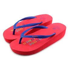 Durable Rubber Womens Summer Wedges Flip Flops Non Slip Comfortable And Soft Walk Beach Sandals Slippers