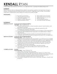 Sample Resume For Customer Service Australia