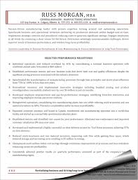 Manufacturing Operations General Manager Resume Sample
