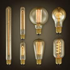 edison vintage e27 glass 110 130v 40w 60w light bulb droplight