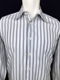 Jhane Barnes White Gray Striped Dress Casual Shirt Mens 15.5 32/33 ... Mens Jhane Barnes Ss Silklinen Shirt Orangered Textured Size Burgundy Embroidered Silk Blend Ls Button Front Mens Shirt Sz 18x38 25 Free Gift Blazers Sport Coats Clothing Shoes Accsories Striped Has A Crepelike Texture The Fabric Is Best Suits Can Opener Ideas On Pinterest Work Fashion 2014 Euc Cotton Rayon Long Sleeve Down Jhane Barnes Sweaters 28 Images Design Style At Up Bright Blue Jhane Barnes Silkcotton Large Color