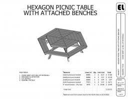 hexagon picnic table building plans blueprints diy do it yourself
