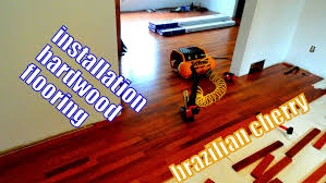 Santos Mahogany Flooring Home Depot by Installation Of Brazilian Cherry Hardwood Flooring In Seconds