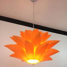 Bunga Lampu Liontin Cahaya Bahan PVC 58 CM Lotus Bentuk DIY Kap Kamar Tidur