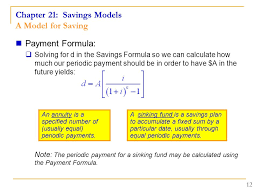 Sinking Fund Calculator Compounded Weekly by Chapter 21 Savings Models Lesson Plan Arithmetic Growth And