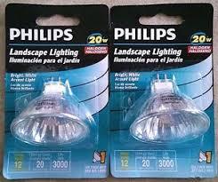 new 2 pack phillips 20w halogen landscape lighting flood bulbs gu5