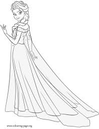 While You Wait For The Upcoming Disney Movie Frozen Fever Have Fun Coloring This Beautiful Queen Elsa Sheet