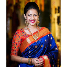 Morpich Creation Niharika Konidela Chanderi Silk Blue Bollywood